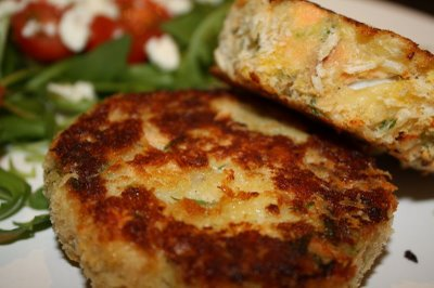 Golden Brown Fish Cakes