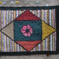 My First Traditional Hooked Rug...
