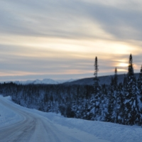 Winter road to Roddickton-Bide Arm