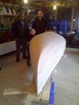 A handmade canoe