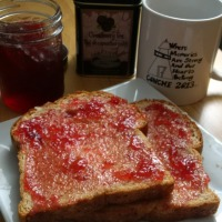 Squashberry Jelly & Dark Tickle Tea for Breakfast